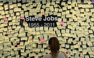 Steve Jobs Post-it Memorial
